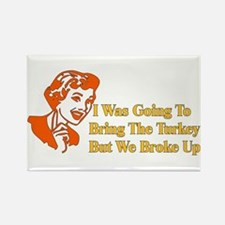Retro Thanksgiving Humor Rectangle Magnet (100 pac