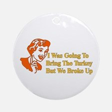 Retro Thanksgiving Humor Ornament (Round)
