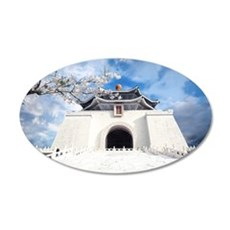 Temple in Snow Wall Decal