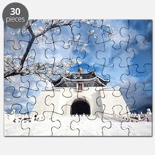 Temple in Snow Puzzle