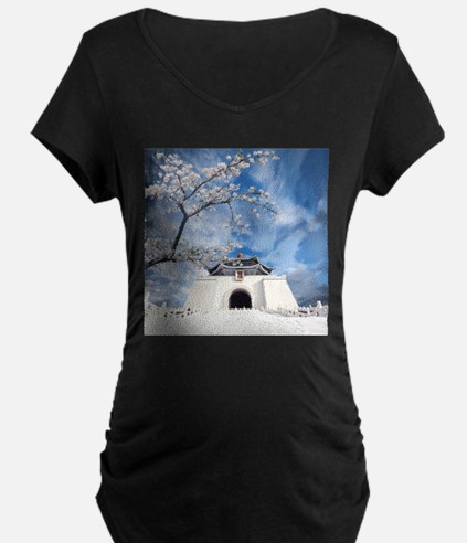 Temple in Snow Maternity T-Shirt