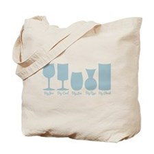 Cougar Town Wine Glass Names Tote Bag