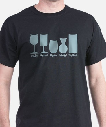 Cougar Town Wine Glass Names T-Shirt