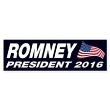 Mitt Romney President 2016 Bumper Sticker
