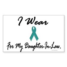 I Wear Teal For My Daughter-In-Law 1 Decal