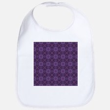 Purple quilt pattern Bib