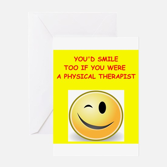 physical therapy Greeting Cards