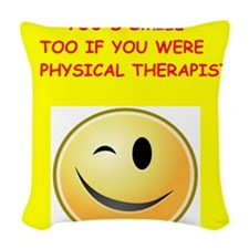 physical therapy Woven Throw Pillow