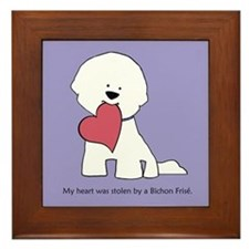 My Heart Was Stolen By Bichon Framed Tile