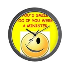 minister Wall Clock