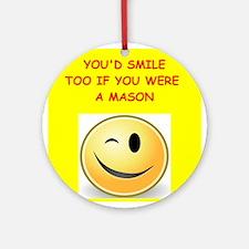 mason Ornament (Round)