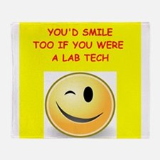 lab tech Throw Blanket