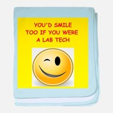 lab tech baby blanket