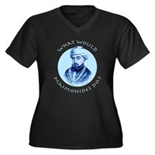 What Would Maimonides Do? Women's Plus Size V-Neck
