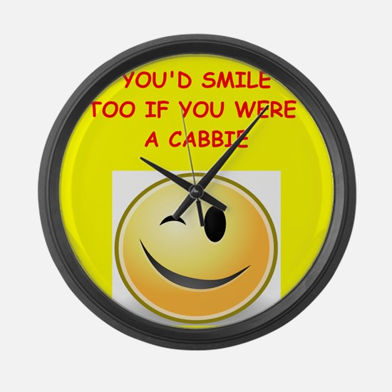 cabbie Large Wall Clock