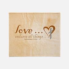 Love Endures Throw Blanket