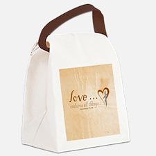 Love Endures Canvas Lunch Bag