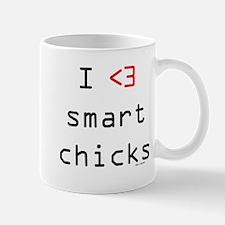 I <3 smart chicks Mug