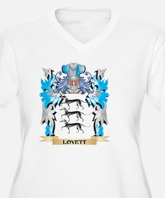 Lovett Coat of Arms - Family Cre Plus Size T-Shirt