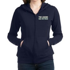 The Legend Has Retired Women's Zip Hoodie