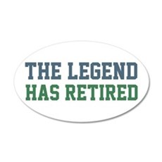 The Legend Has Retired Wall Decal
