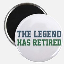 "The Legend Has Retired 2.25"" Magnet (100 pack)"