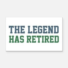 The Legend Has Retired Rectangle Car Magnet