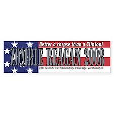 Zombie Reagan 2008 Bumper Bumper Sticker