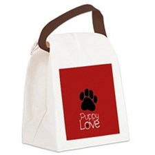 Paw Puppy Love Canvas Lunch Bag