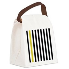 A Stripe of Yellow Canvas Lunch Bag