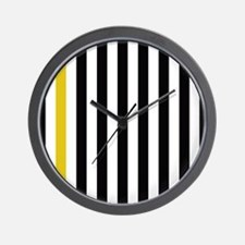 A Stripe of Yellow Wall Clock