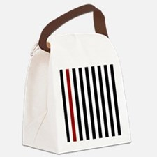 With A Red Stripe Canvas Lunch Bag
