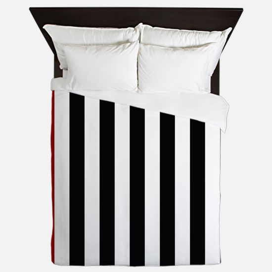 With A Red Stripe Queen Duvet