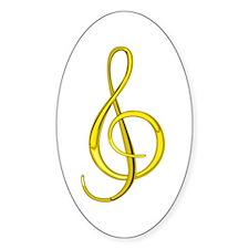 Treble Clef Sticker (Lemon)