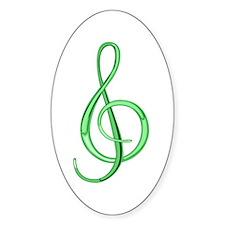 Treble Clef Sticker (Lime)