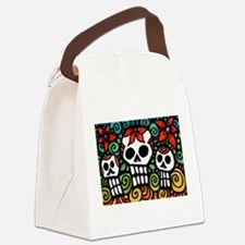 Day of the Dead Floral Sugar Skulls Canvas Lunch B