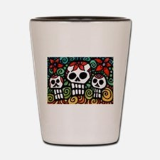 Day of the Dead Floral Sugar Skulls Shot Glass