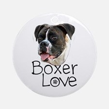 Boxer Love Ornament (Round)