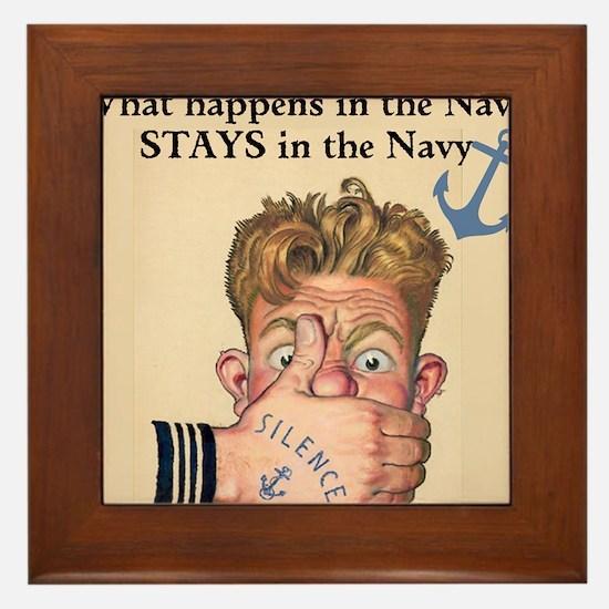 In the Navy Framed Tile