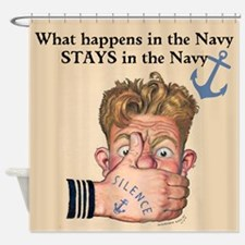 In the Navy Shower Curtain