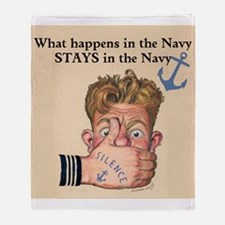 In the Navy Throw Blanket