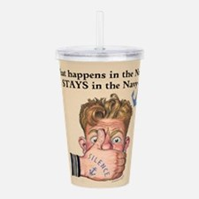 In the Navy Acrylic Double-wall Tumbler