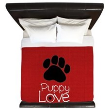 Paw Puppy Love King Duvet