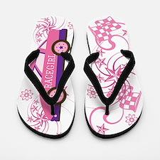 Pink RaceGirl Flip Flops Flip Flops