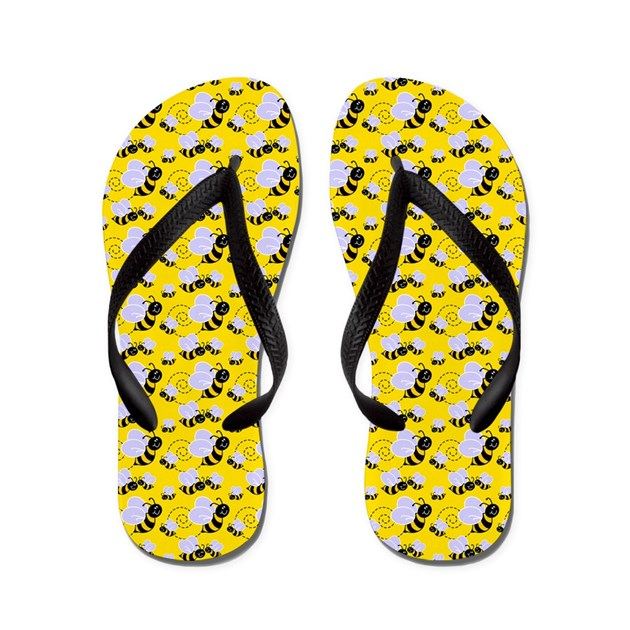Bumble Bee Flip Flops By Stolenmomentsph