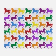Horses Throw Blanket