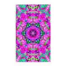 Pretty Flowers Pink Area Rug
