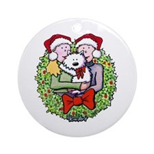 Westie Family Christmas Ornament (Round)