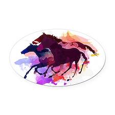 Cute Fun horse Oval Car Magnet