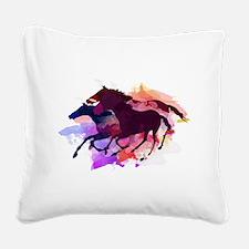 Unique Horses Square Canvas Pillow